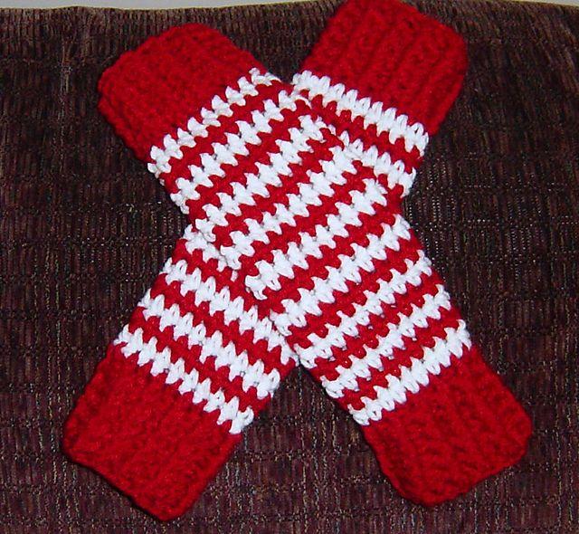 Candy cane crochet leg warmers pattern pattern by ohio crochet lady