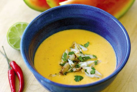 Chilled Watermelon Soup with crab | Recipes We Love | Pinterest
