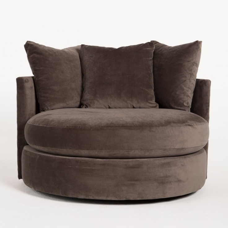 Super comfy round swivel chair new furniture pinterest for Super comfy office chair