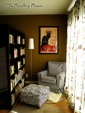 reading nook - the chair would be a bigger, overstuffed version