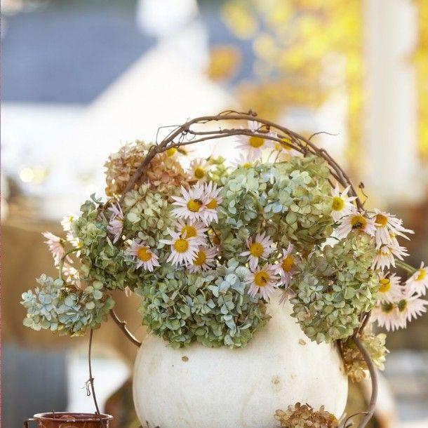 Dried Hydrangea Arrangements: Fall Inspiration