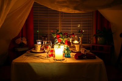 romantic dinner date at home yessssssss with music in the