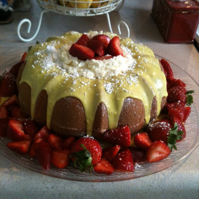 ... filled with mascarpone and lemon zest cream adorned with fresh berries