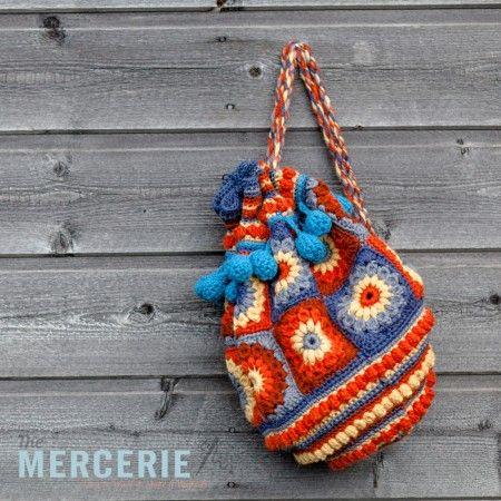crochet-duffle-bag- knitting and crochet Pinterest