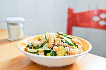 Zucchini Pasta with Almonds and Lemon Zest | Recipe