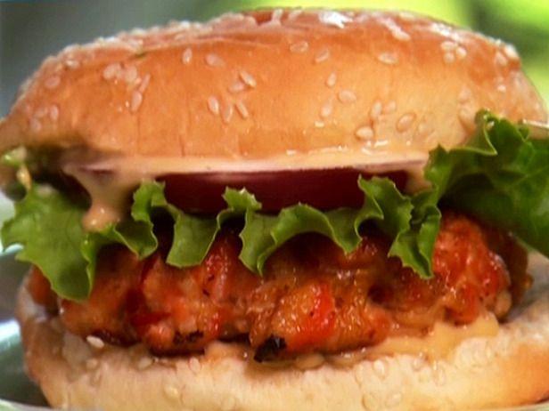 Salmon Burger recipe - Paula Deen