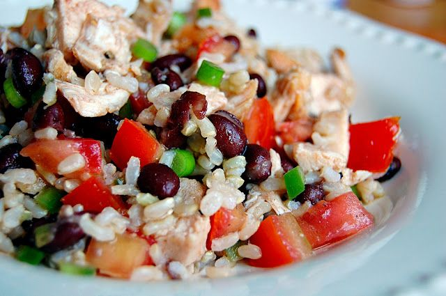 Savory Spicy Sweet: Chicken, Rice, and Black-Bean Salad