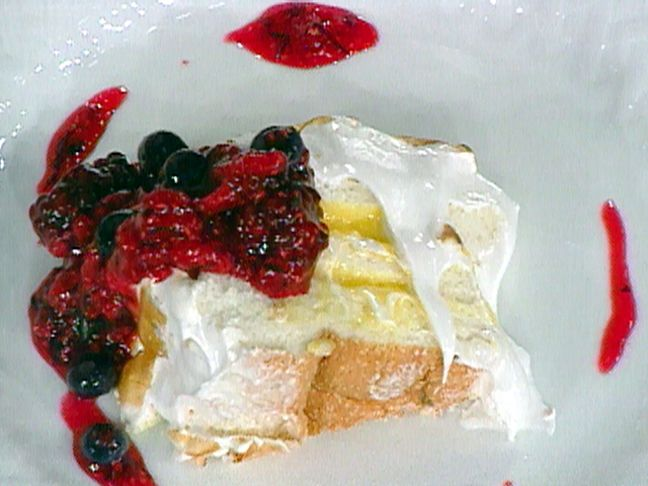 Angel Food Cake with a Fresh Lemon Curd Recipe : Emeril Lagasse : Food ...