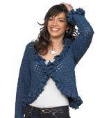 Ruffle Cardigan free crochet pattern