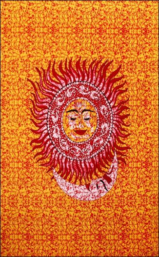 Buddha Sun And Moon Tapestry