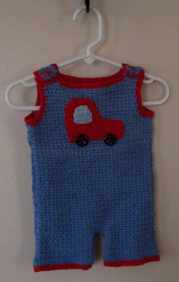 crochet baby boy romper Baby dress Crochet Pinterest