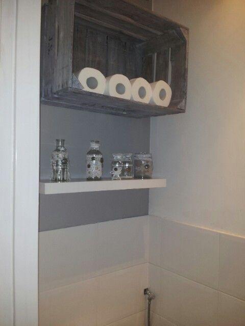 Landelijke brocante toilet ruimte h o m e pinterest - Stijl van toilet ...