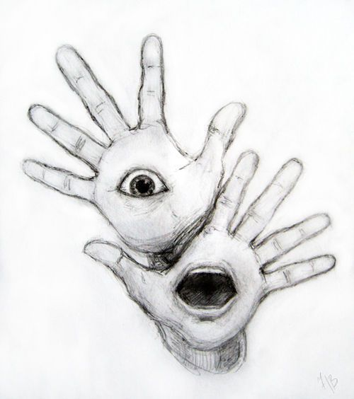 Surprised hands