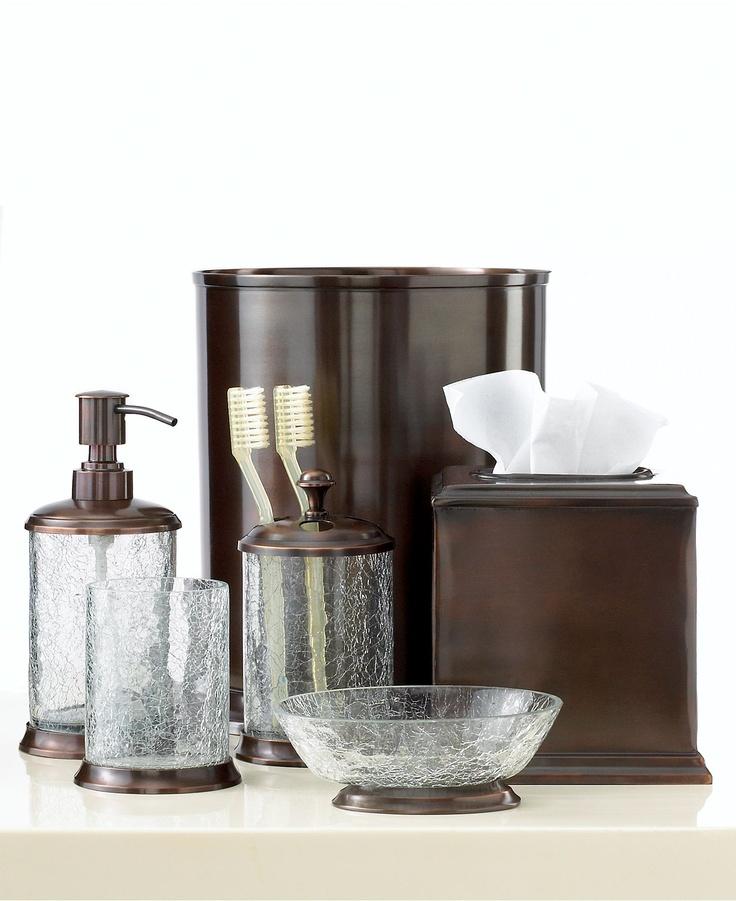 Mermaid bathroom accessories - Bath Accessories Crackle Glass Collection Bathroom Accessories