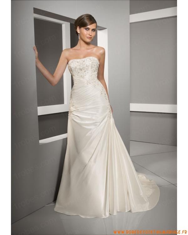 Robe de mariée empire en taffetas  Robe de mariée longue ...