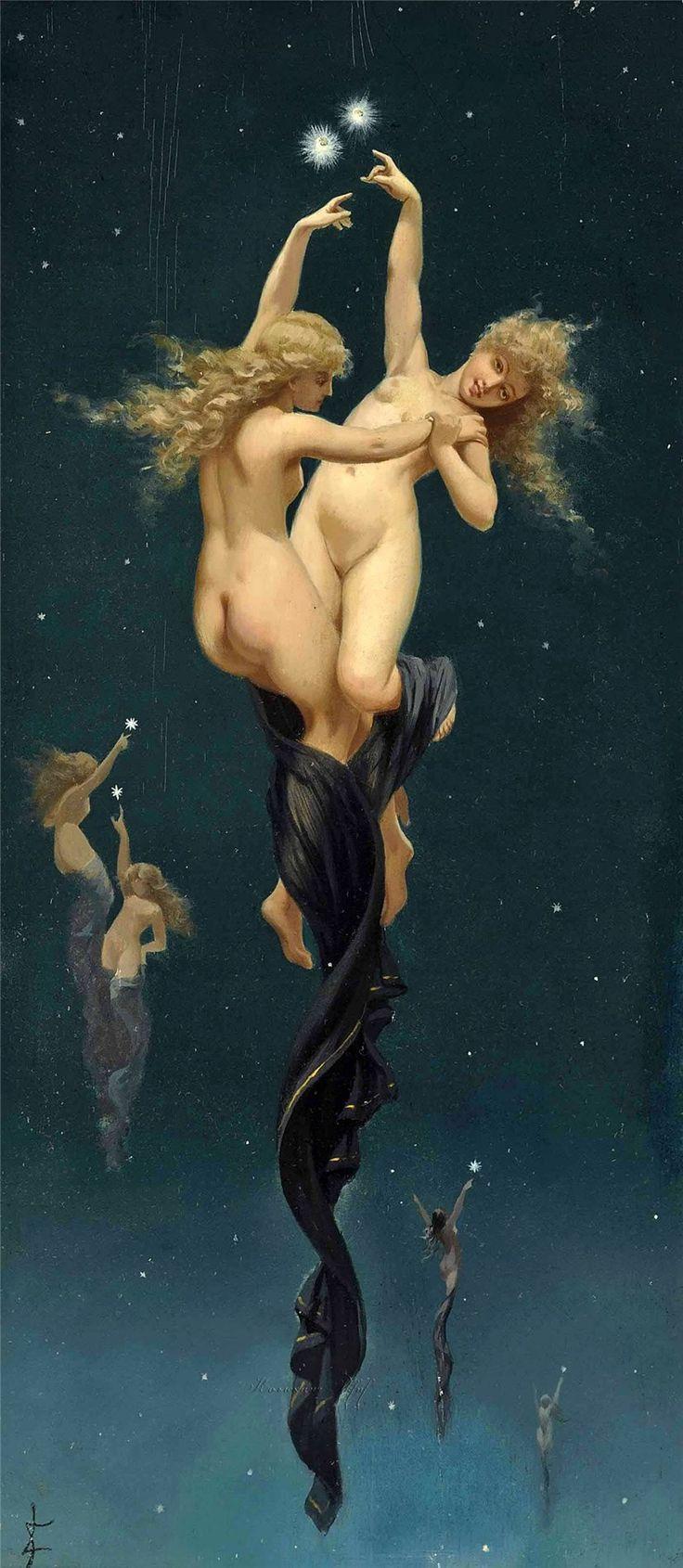 Парапсихолог - биоэнергетик, ясновидящая  Екатерина: Luis Ricardo Falero (Spanish, 1851-1896) - 1