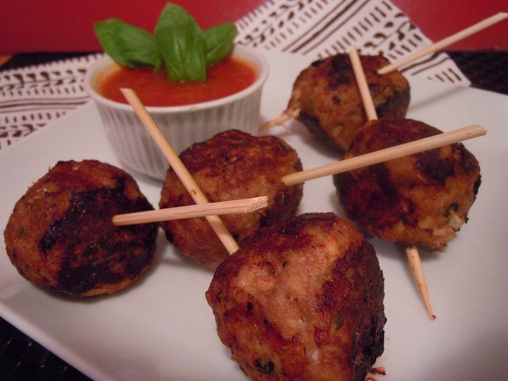 Turkey meatballs with ricotta & basil. fresh, healthy and really good ...