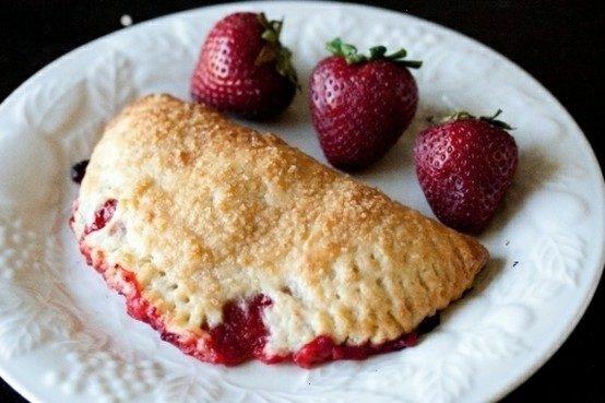 Strawberry rhubarb hand pie   food   Pinterest