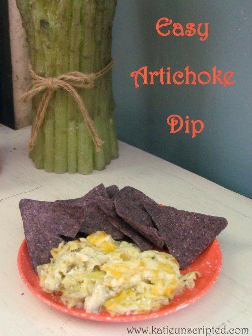 Easy Artichoke Dip. Yummy and healthy? I am in!