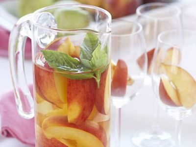 . James Winery Peach Wine instead of a plain white wine for a sangria ...