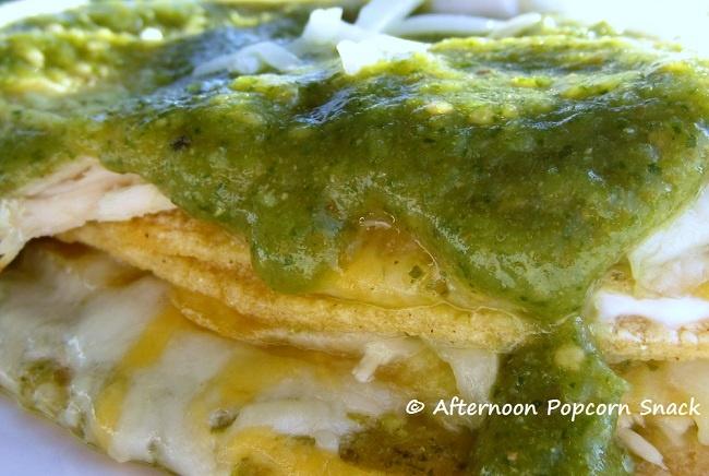 Easy Stacked Chicken Enchiladas | Savory | Pinterest