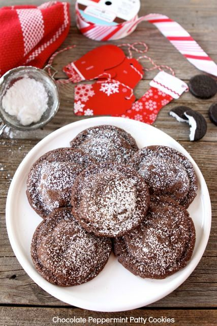Chocolate Peppermint Patty Cookies www.twopeasandtheirpod.com #recipe ...