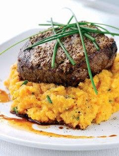 Balsamic Beef & Sweet Potato Mash Clean Eating Recipe