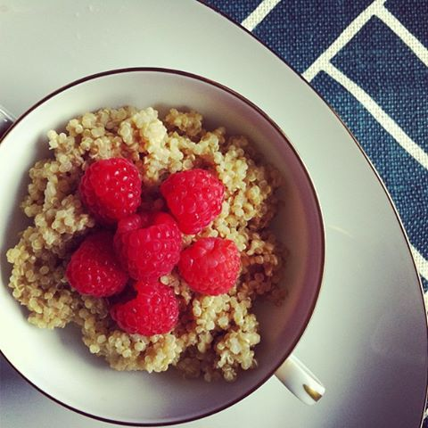 Almond Milk Quinoa with raspberries and cinnamon! #breakfast | Foood ...