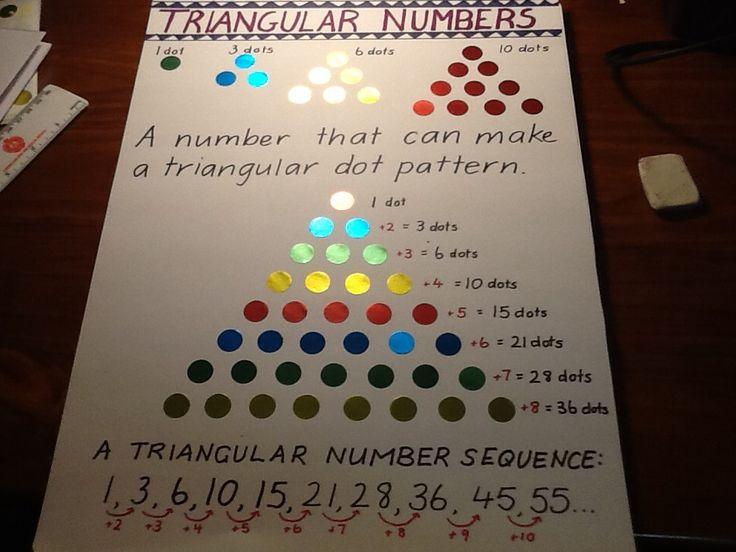 Triangular numbers   Maths   Pinterest