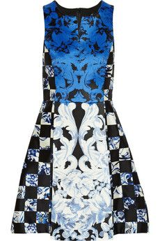 Tibi Printed silk dress