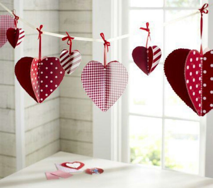 valentine's day hanging crafts