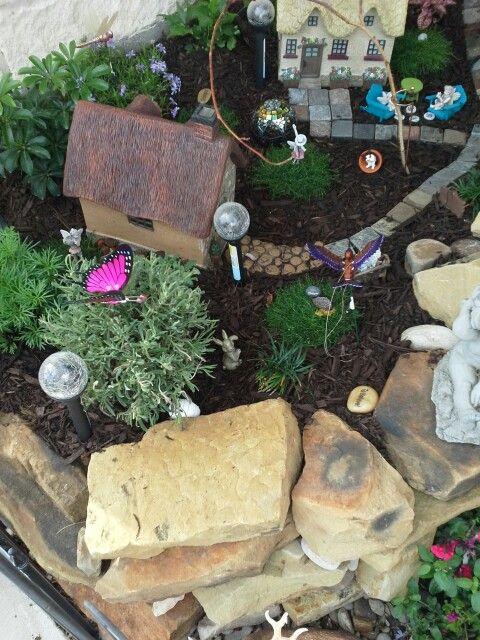 My fairy garden. | Garden/Fairy Garden/containers | Pinterest