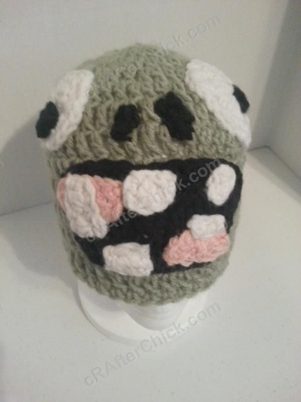 Plants vs. Zombies Zombie Character Crochet Hat