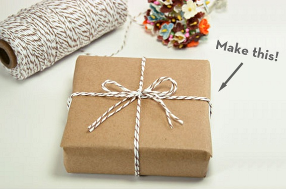wrapping with bakers twine