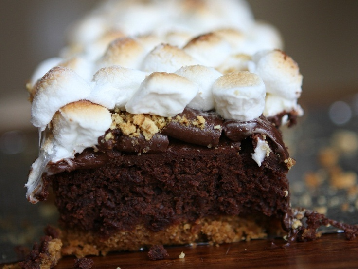 mores Brownies by Recipe Girl | Brownie Beauty | Pinterest