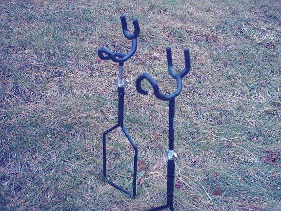 Bank rod holders fishing pinterest for Homemade fishing rod holders for bank fishing