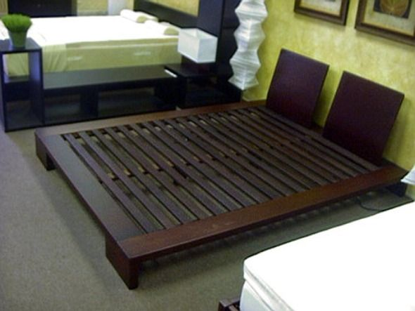 make queen size platform bed frame