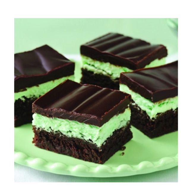 Chocolate mint brownies I made these and OMG, so good!!!! The frosting ...