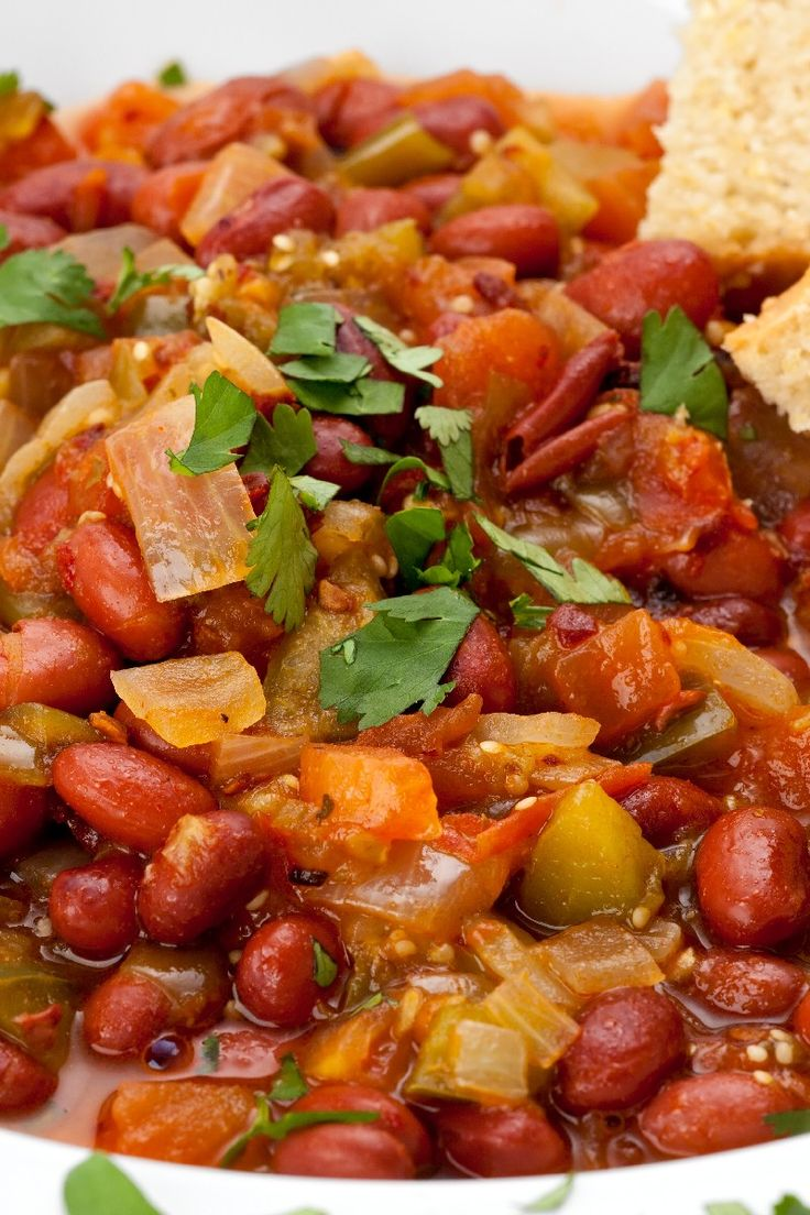 Vegetarian Chili #Recipe | Soup! | Pinterest
