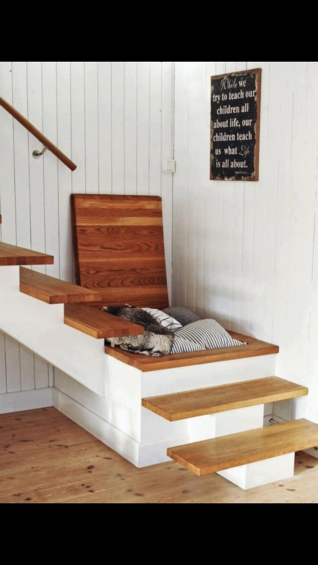 Storage In Stairs Basement For The Home Pinterest