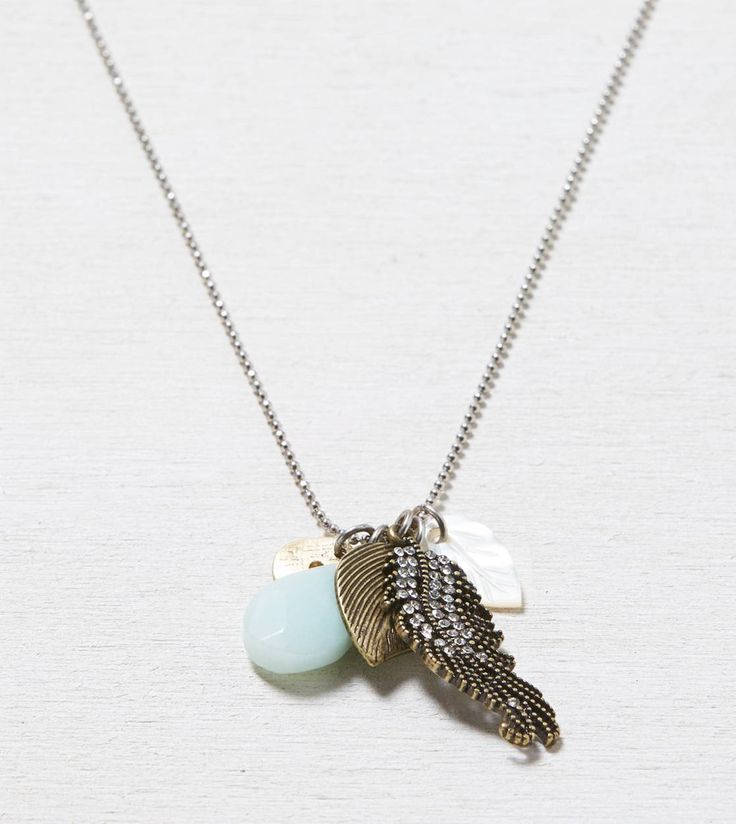aeo leaf cluster necklace american eagle