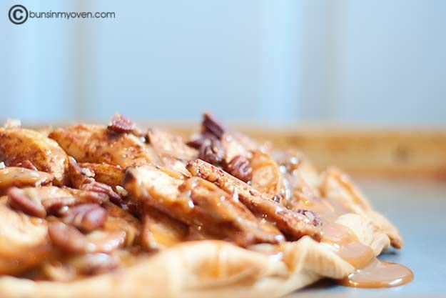 Apple Galette with Caramel Sauce