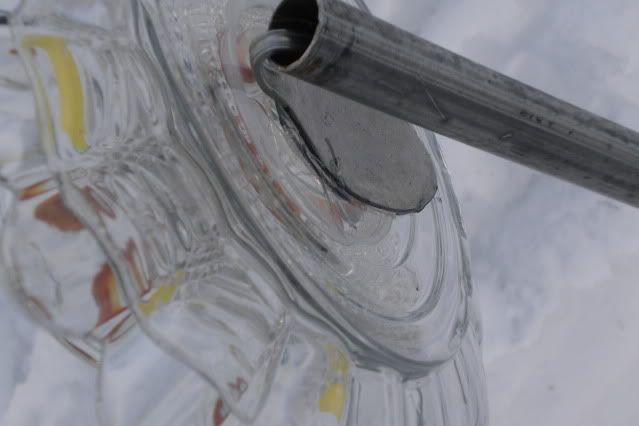 Glass yard art flowers - Glasses