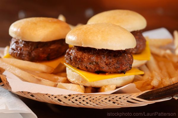 Sliders make me feel better about eating burgers. I know it's the same ...