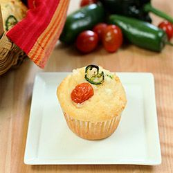 Corn Muffins With Poblano Peppers & Queso Fresco Cheese Recipe ...