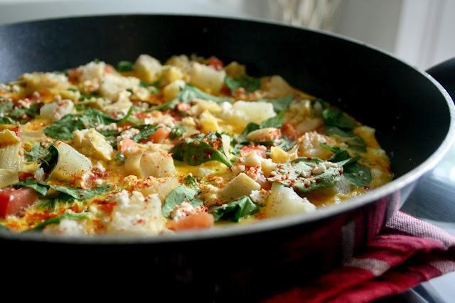 Spinach and Feta Frittata | YUM! | Pinterest
