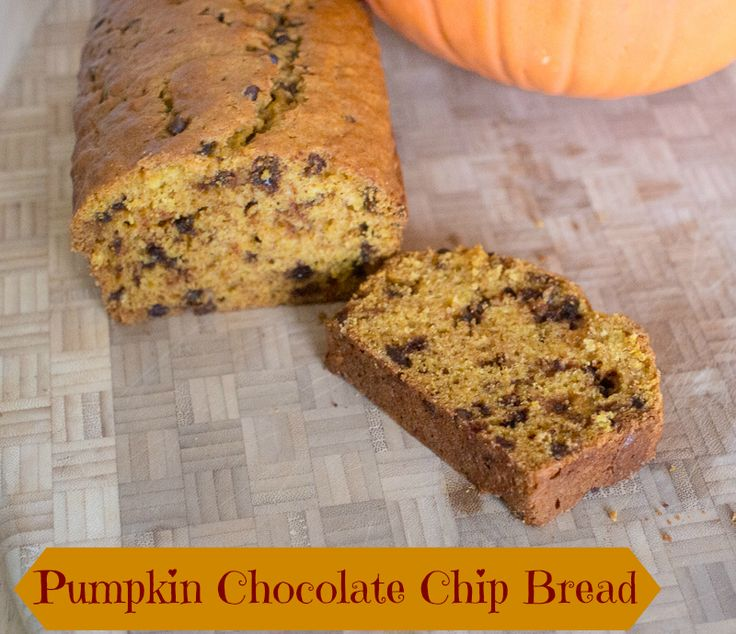Pumpkin Chocolate Chip Bread - Perfect for the Holidays #chocolate # ...