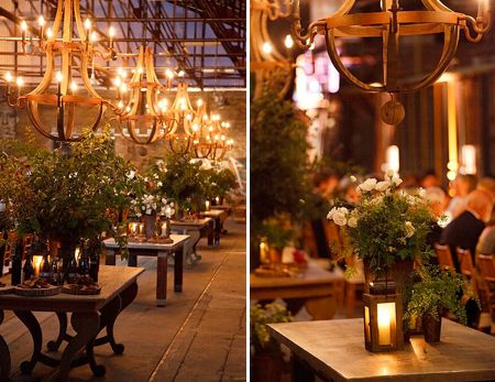 Rustic Wedding Reception with Wood Chandelier | photos Bruce Zinger | House & Home