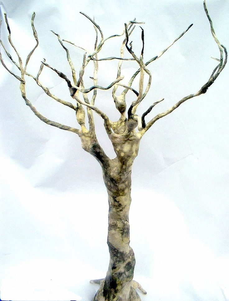 how to make tree with paper mache