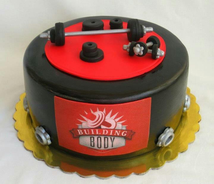 Gym cake men s birthday cake Pinterest